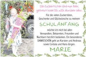 Schulanfang, MARIE